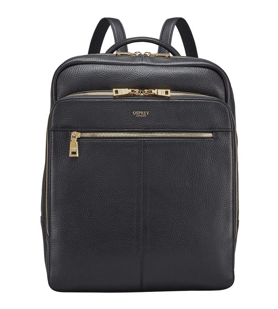 Osprey London The Langdale Black Leather Backpack