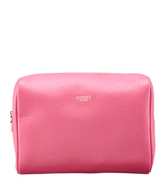 The Winslow Large Leather Washbag in ballet pink | OSPREY LONDON