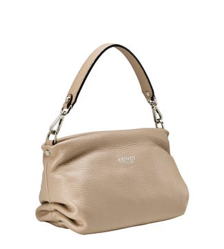 The Carina Shrug Italian Leather Handbag in malt | OSPREY LONDON