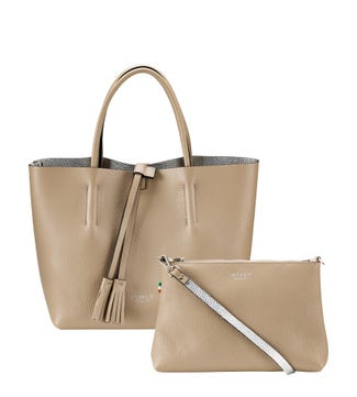 The Portofino 3 In 1 Italian Leather Grab in malt | OSPREY LONDON