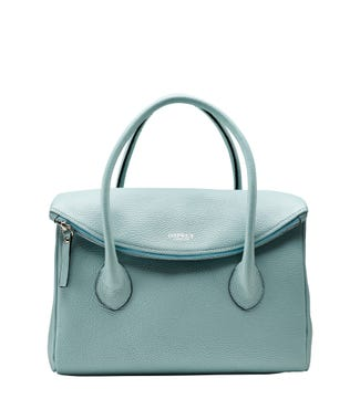 The Carina Italian Leather Organiser Grab in mint green | OSPREY LONDON