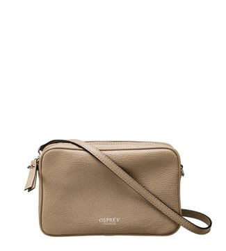The Andorra Italian Leather Convertable Cross-Body in malt | OSPREY LONDON