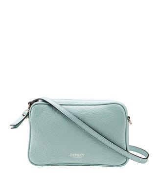 The Andorra Italian Leather Convertable Cross-Body in mint green | OSPREY LONDON