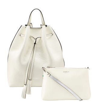 The Portofino 3-in-1 Italian Leather Rucksack in pearl | OSPREY LONDON