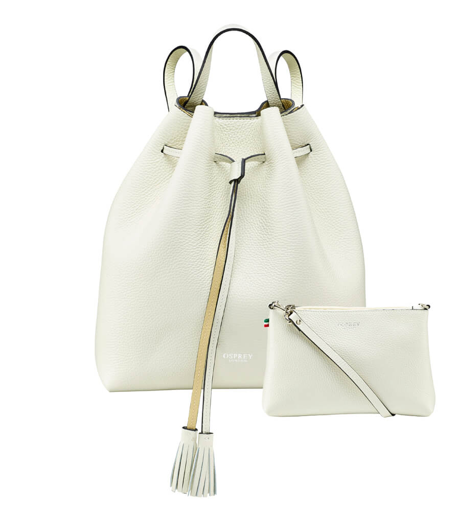 An image of The Portofino Italian Leather Rucksack