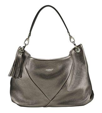 The Carina Italian Leather Hobo bag in bronze | OSPREY LONDON