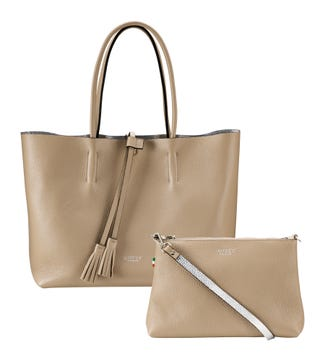 The Portofino 3-in-1 Italian Leather Tote in malt | OSPREY LONDON