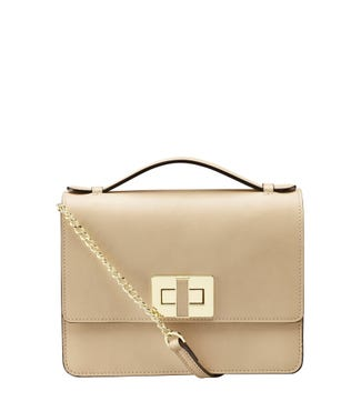 The Aria Italian Leather Cross-Body & Grab in Stone