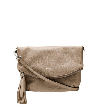 The Carina Italian Leather Medium Cross-Body in malt | OSPREY LONDON