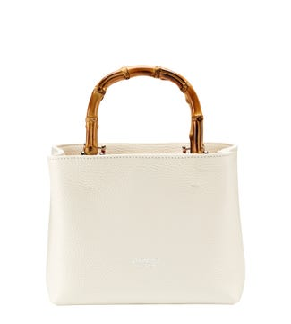 The Mini Clio Italian Leather Grab in pearl white | OSPREY LONDON