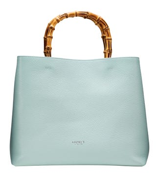 The Clio Italian Leather Grab in mint green | OSPREY LONDON