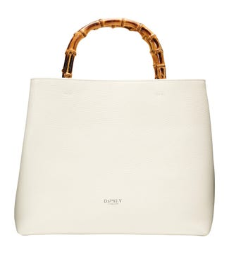 The Clio Italian Leather Grab in pearl white | OSPREY LONDON