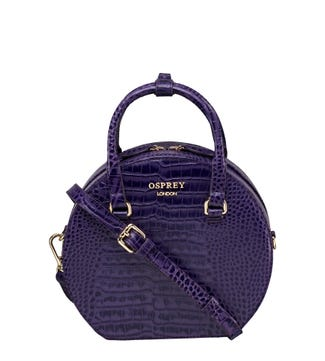 The Kate Leather Grab in amethyst