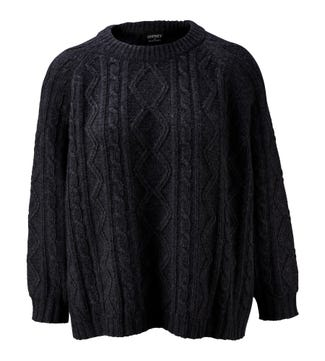 The Cableknit Wool & Cashmere Jumper in grey | OSPREY LONDON