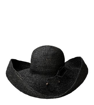 The St Tropez Sunhat in black | OSPREY LONDON