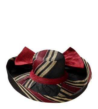 The Henley Hat in black & multi | OSPREY LONDON