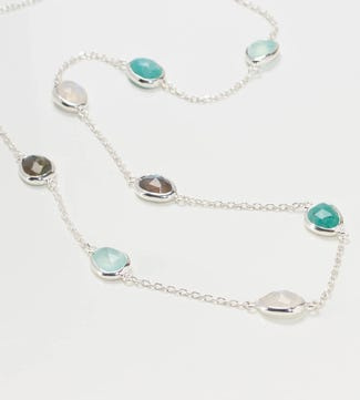 The Mara Sterling Silver Gemstone Necklace |  OSPREY LONDON