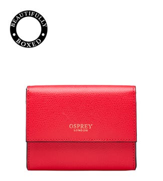 The Rainbow Leather Matinee Purse in red