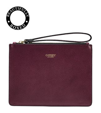 The Rainbow Leather Pouch in wine