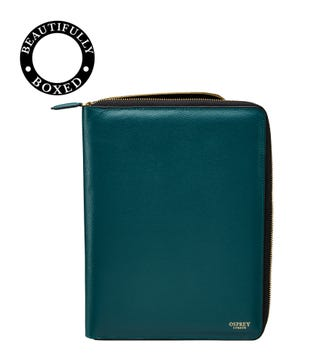 The Rainbow Leather Document Case in teal