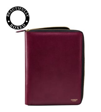 The Rainbow Leather Document Case Wine