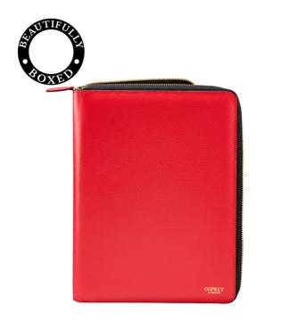 The Rainbow Leather Document Case in red