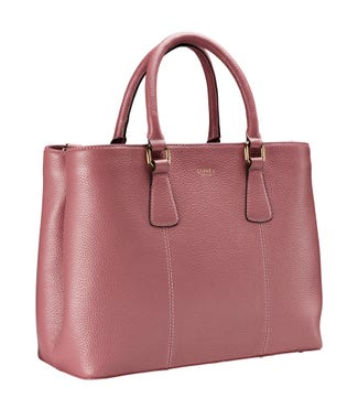 The Adaline Leather Workbag in clay pink | OSPREY LONDON