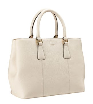 The Adaline Leather Workbag in cream | OSPREY LONDON