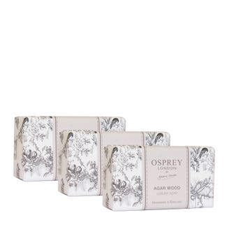 Agar Wood Fragranced Soap Set of Three | OSPREY LONDON