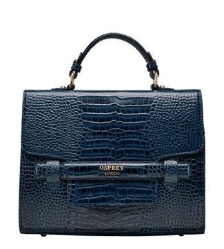 The Alban Leather Grab in navy | OSPREY LONDON