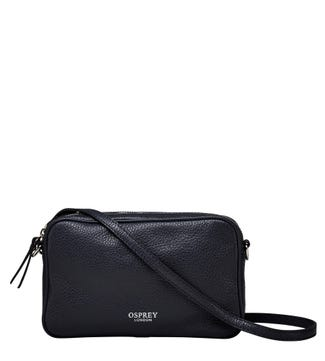 The Andorra Italian Leather Convertible Cross-Body in midnight blue | OSPREY LONDON