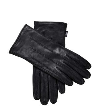 The Ava Leather Gloves in black | OSPREY LONDON
