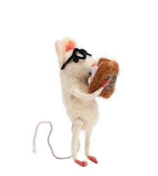 Bookworm Mouse in Felted Wool | OSPREY LONDON