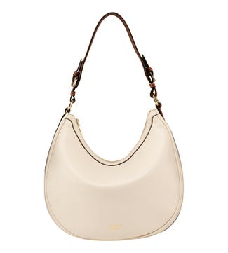 The Brockwell Leather Hobo in stone | OSPREY LONDON