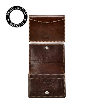 The Brody Leather Business Cardholder in tan | OSPREY LONDON