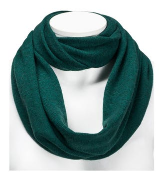 The Cashmere Loop Scarf in forest green | OSPREY LONDON