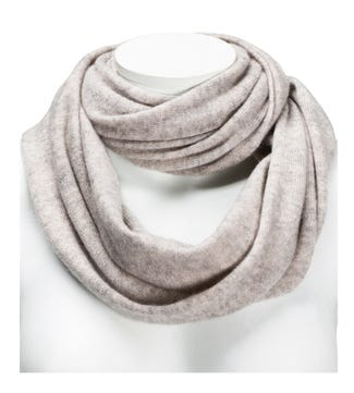 The Cashmere Loop Scarf in grey | OSPREY LONDON
