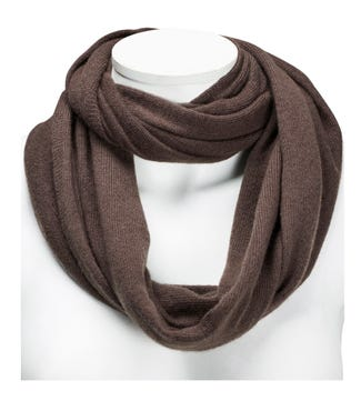 The Cashmere Loop Scarf in taupe | OSPREY LONDON