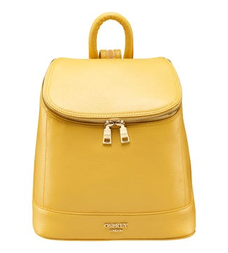 The Clarendon Leather Rucksack in sunshine yellow | OSPREY LONDON