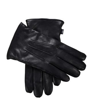 The Clarke Leather Gloves in black | OSPREY LONDON