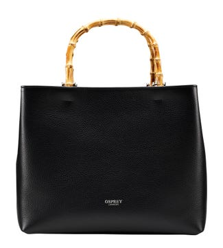 The Clio Italian Leather Grab in black | OSPREY LONDON