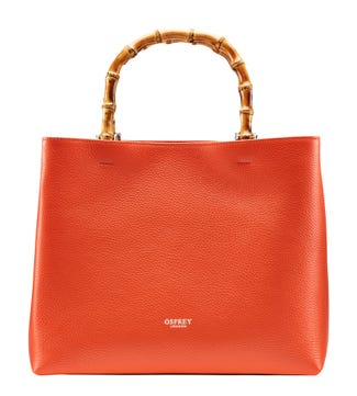 The Clio Italian Leather Grab in burnt orange | OSPREY LONDON
