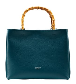 The Clio Italian Leather Grab in teal | OSPREY LONDON