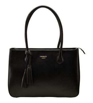 The Coast Leather Workbag in black | OSPREY LONDON