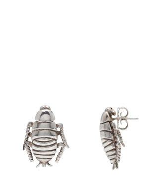 The Cockroach Sterling Silver Stud Earrings | OSPREY LONDON