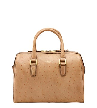 The Connie Bowler Leather Grab in almond | OSPREY LONDON