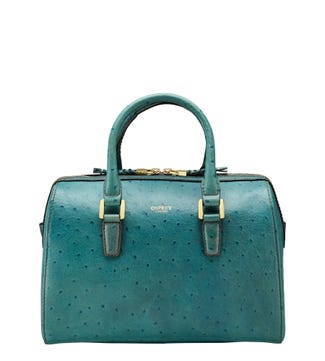 The Connie Leather Bowler Grab in sea spray | OSPREY LONDON