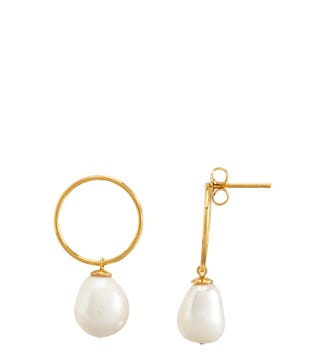 The Elena Halo Pearl Earrings | OSPREY LONDON