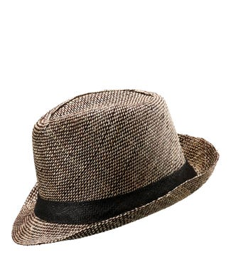 The Ellisdon Sisal Trilby in black | OSPREY LONDON