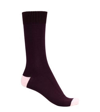 English Luxury Cotton Socks in purple & pink | OSPREY LONDON